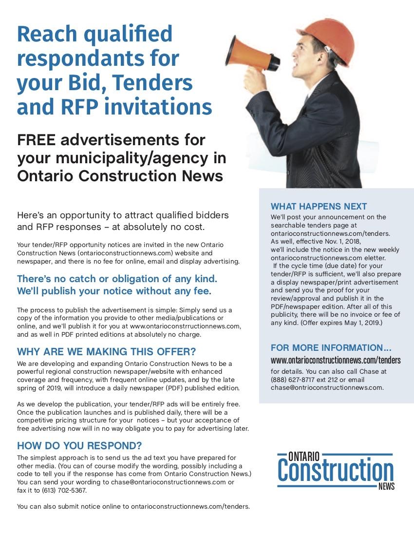 About Ontario Construction News - Ontario Construction News