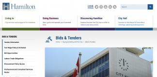 hamilton bids tenders page