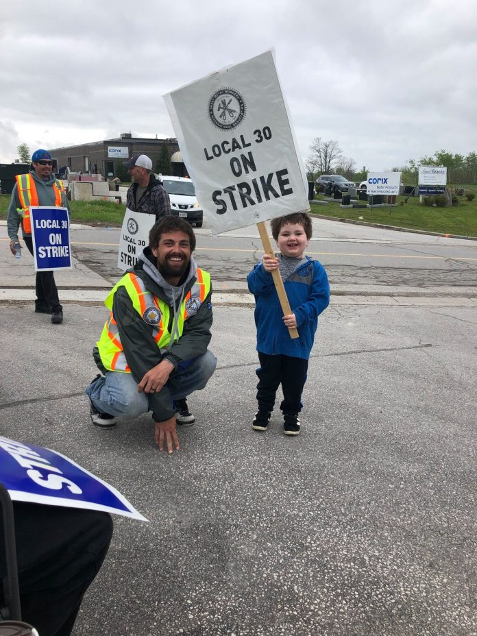 sheet metal worker with son