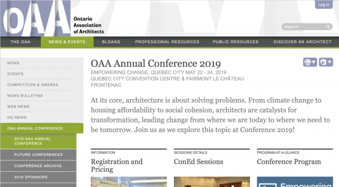 oaa conference 2019 web page