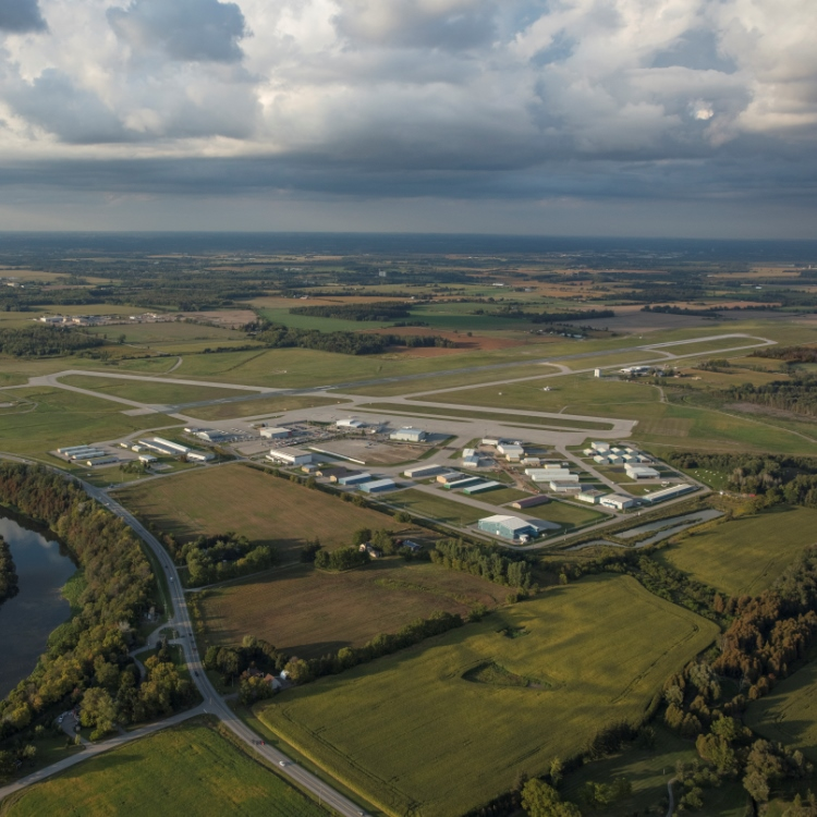 waterloo airport aerial