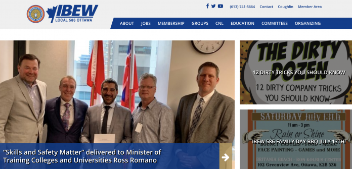 IBEW 586 web page