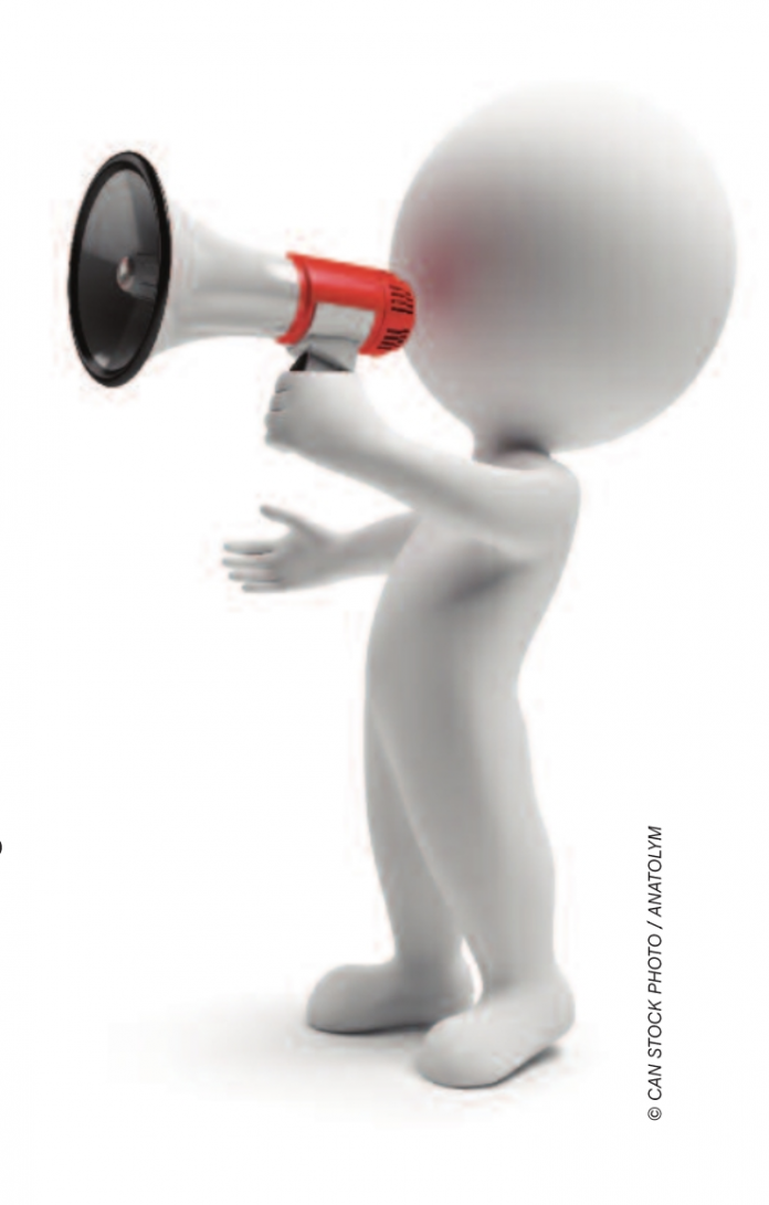 stock image megaphone