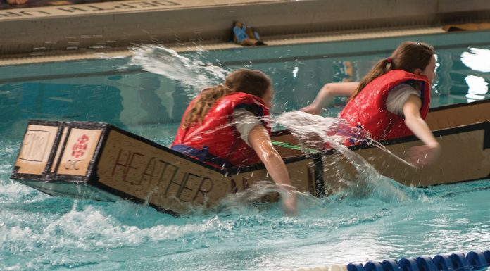 Skills Canada cardboard boat racers in Sault Ste. Marie