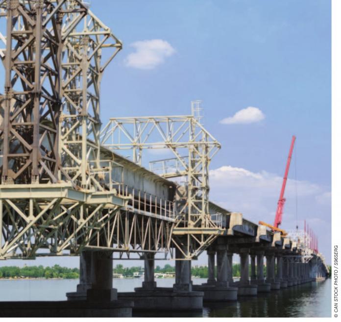 cnw bridge stock image