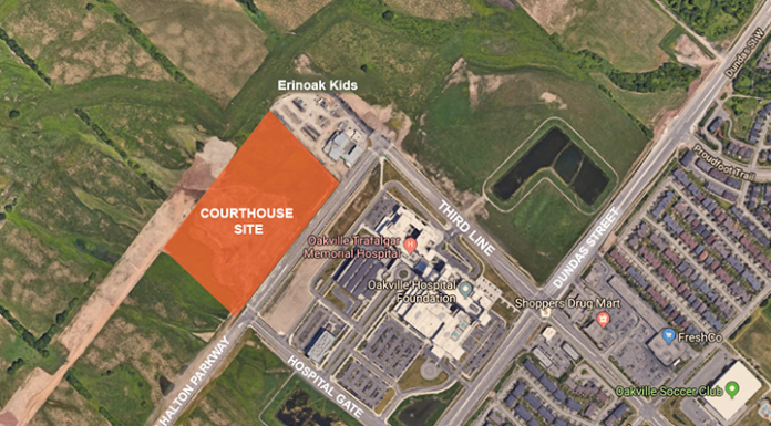 site of proposed courthouse