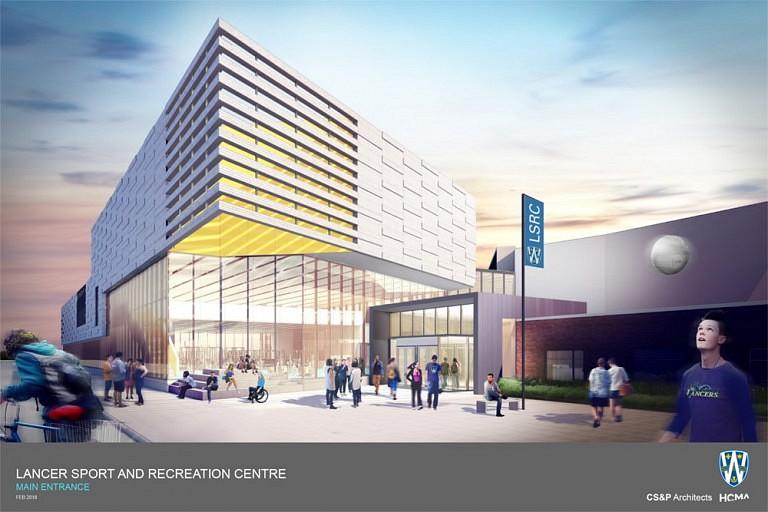 Rendering rec centre UW