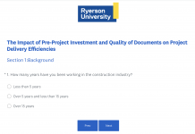 ryerson design survey
