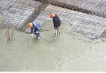 concrete pour stock image