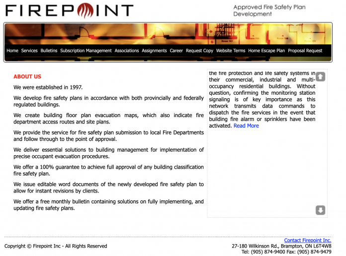 firepoint webpage