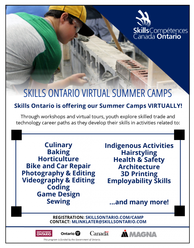 skills ontario camps