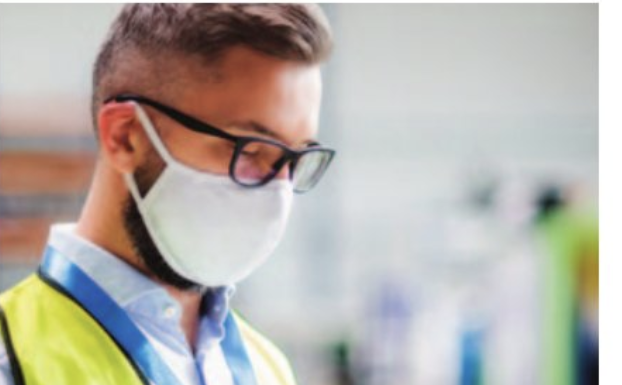 stock image man with mask
