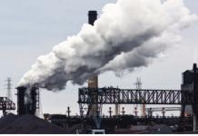 steelworks stock photo