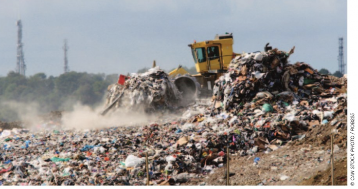 landfill stock image