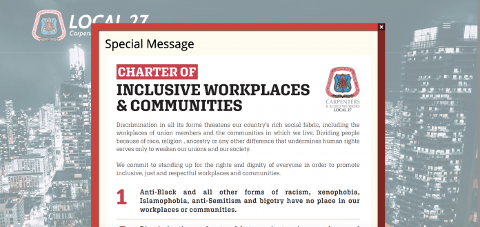 local 27 message racism
