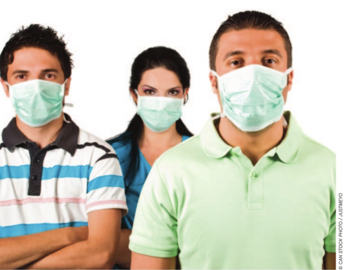 covid people with masks stock image