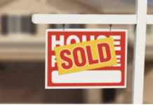 home for sale stock image