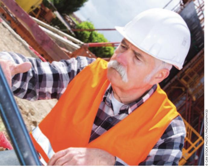 older construction supervisor