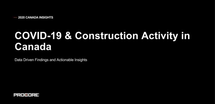 procore covid construction activity
