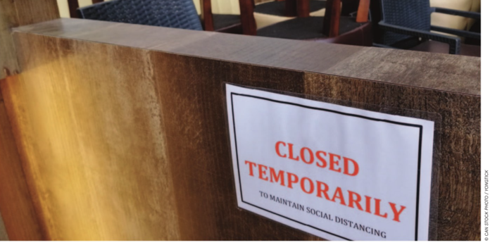 closed temporarily stock image