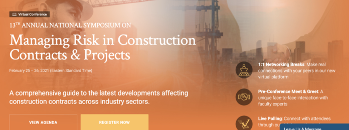 construction risk conference web page