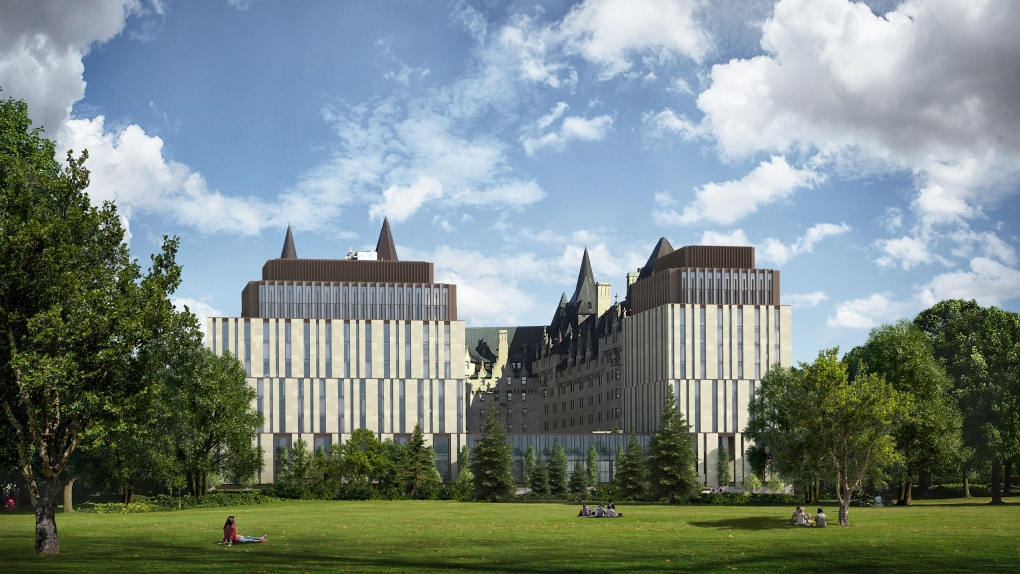 chateau laurier back view