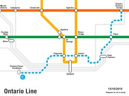 Ontario Line map