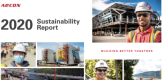 aecon sustainability report cover 2021