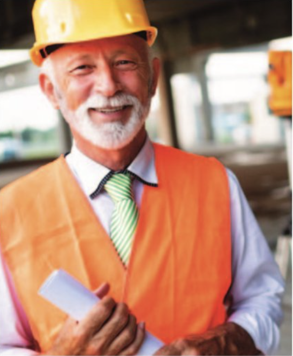 stock photo old worker