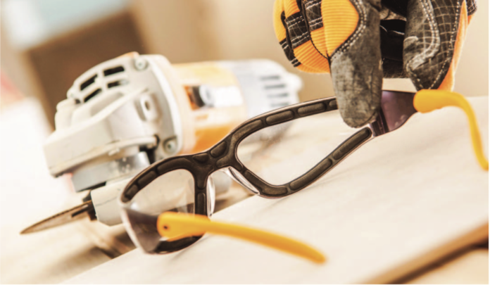 safety glasses gear stock photo
