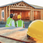 stock photo large homeunder construction