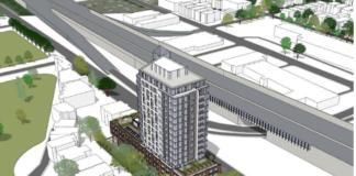 rendering of chamberlain ave development